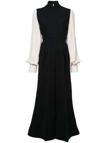 Roksanda jumpsuit women black silk
