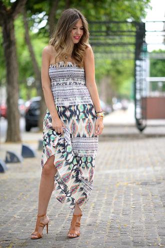 mi aventura con la moda blogger bustier dress aztec maxi dress