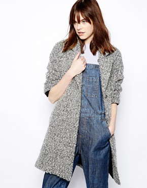 Helene Berman | Helene Berman Swing Coat in Textured Mohair Mix at ASOS