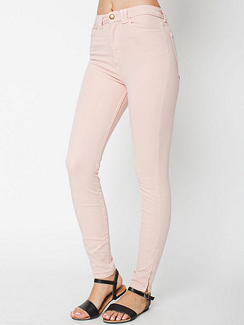 Four-Way Stretch High-Waist Side Zipper Pant | American Apparel