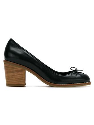 women pumps leather shoes