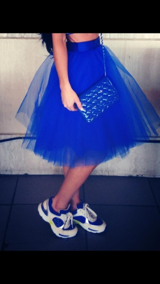 skirt blue skirt tulle pants blue tulle skirt