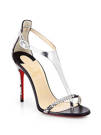 shoes christian louboutin swag python