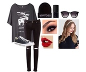 t-shirt,punk,back to school,jeans,rock,all time low,pierce the veil,hair accessory,hat