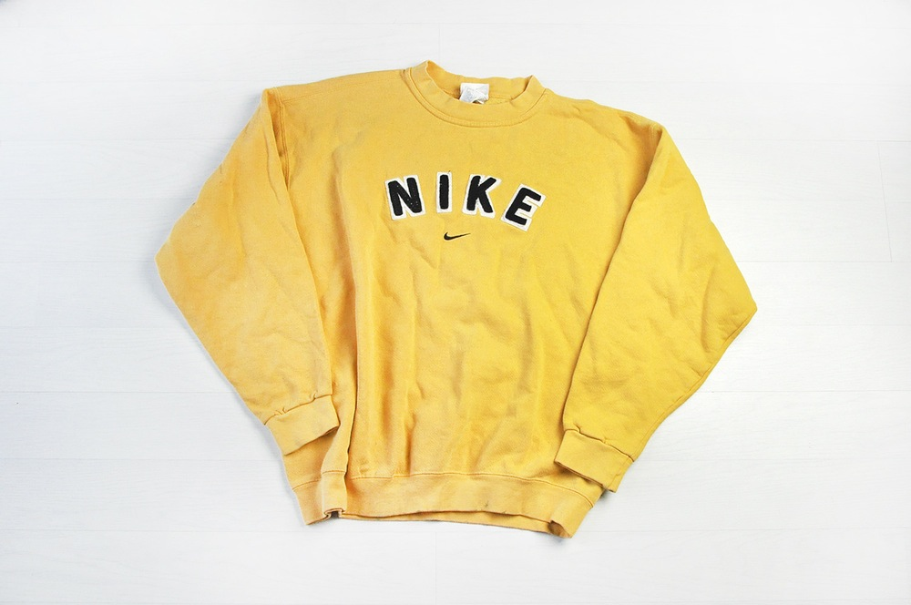 Vintage Nike Yellow Sweater Jumper