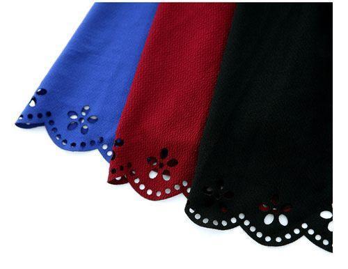 Eyelet-Lace Hem Skirt, Black , One Size - KANA | YESSTYLE United Kingdom