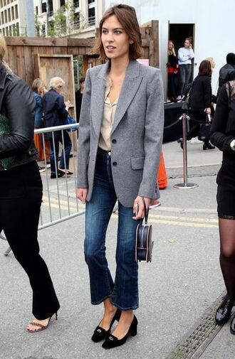 jeans alexa chung denim blazer clutch purse