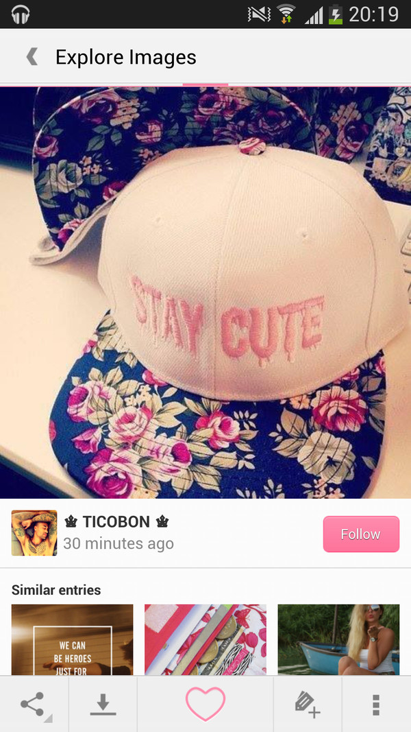 hat cute snapback floral flowers