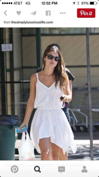 dress rachel bilson white white dress