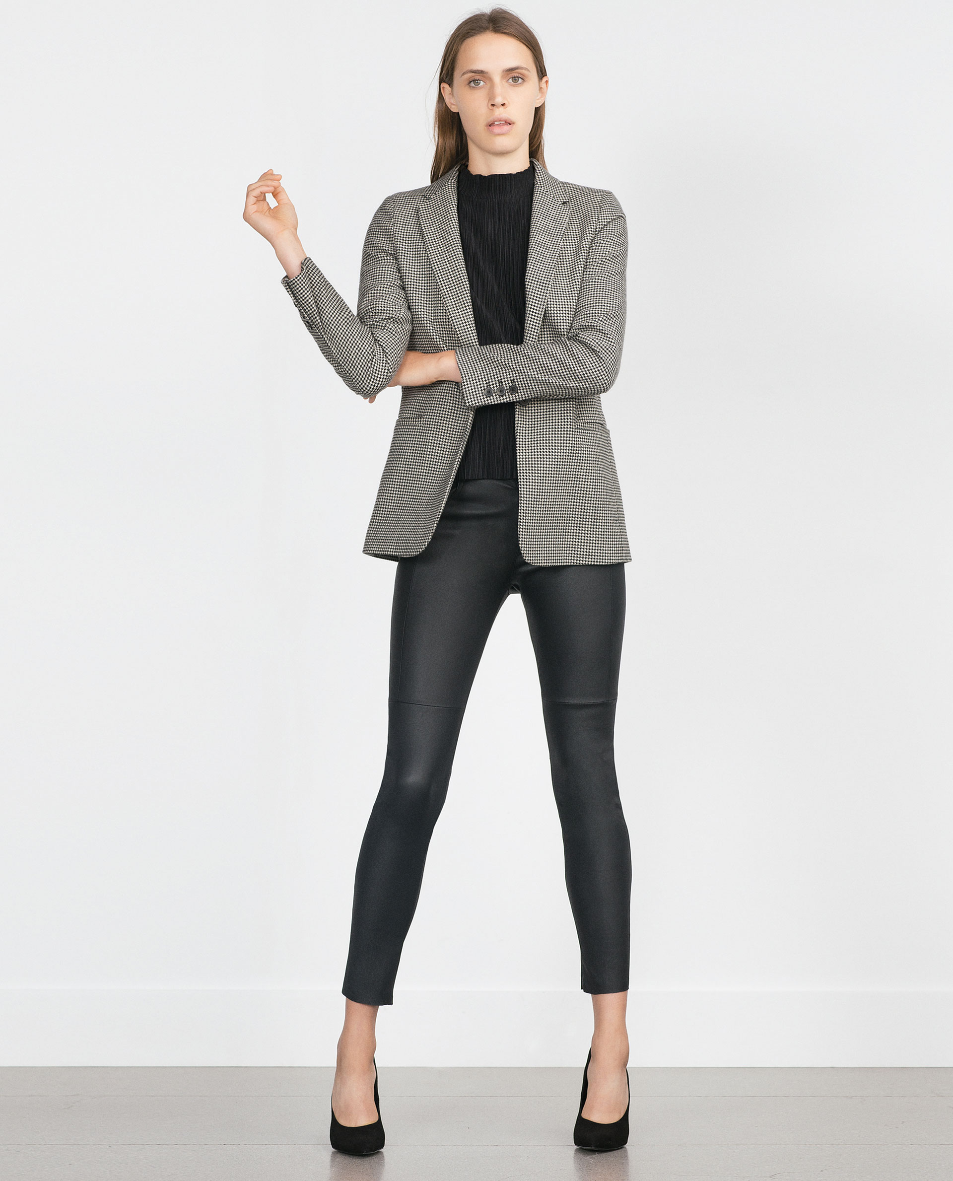 Luxury TROUSERS WITH ZIPS  Trousers  Woman  ZARA United Kingdom  Leather