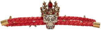 friendship bracelet red jewels