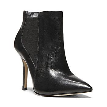 MARSHHA BLACK LEATHER women's bootie high dress - Steve Madden