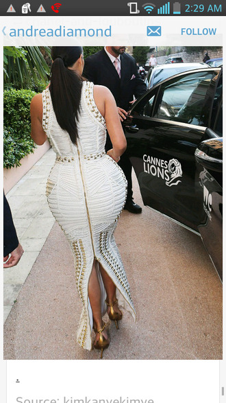 kim k kim kardashian white dress zip-up white bodycon midi dress