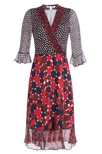 dress wrap dress print silk multicolor