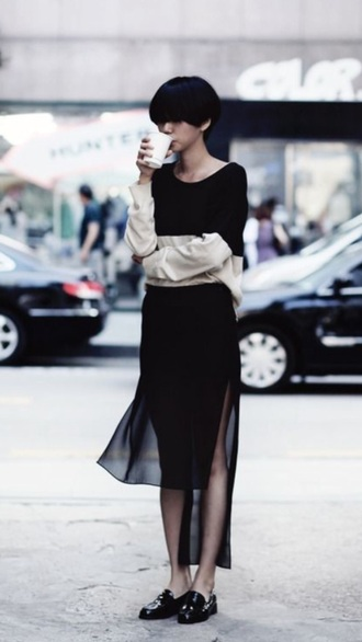 skirt black black skirt maxi skirt sheer sheer skirt