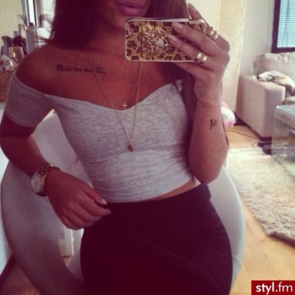 short girly grey style shirt