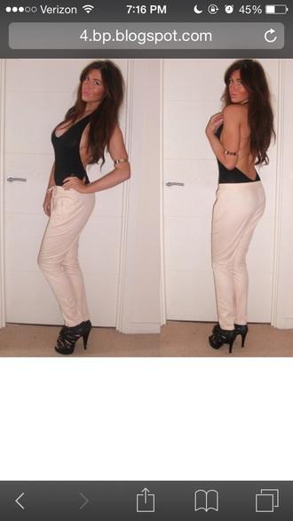 top black t-shirt bodysuit body shirt style t-shirt trendy backless dress