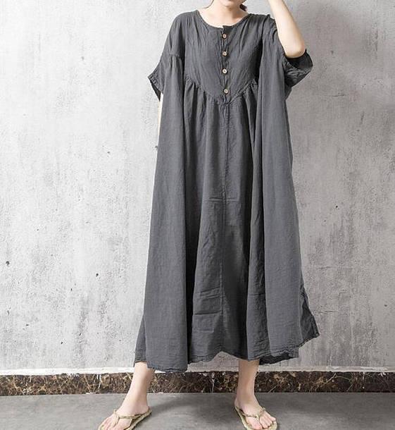 dress gray large size dress