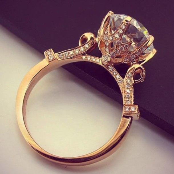 Vintage gold diamond rings rfjdr