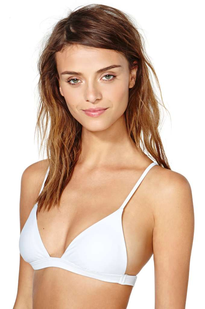Nasty Gal Kauai Bikini Top - White | Shop Swimwear at Nasty Gal