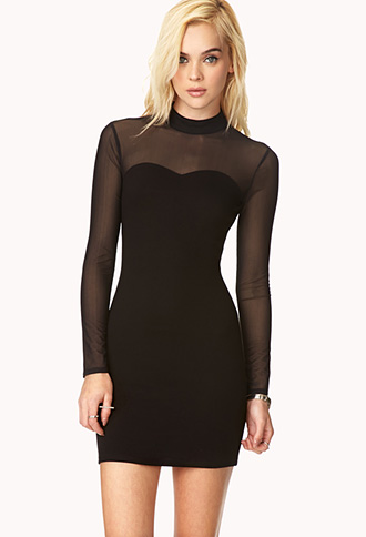 Posh High-Neck Dress | FOREVER21 - 2000127617