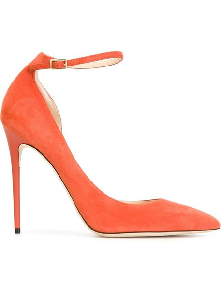 pumps yellow orange shoes