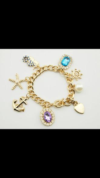 jewels charm bracelet bracelets