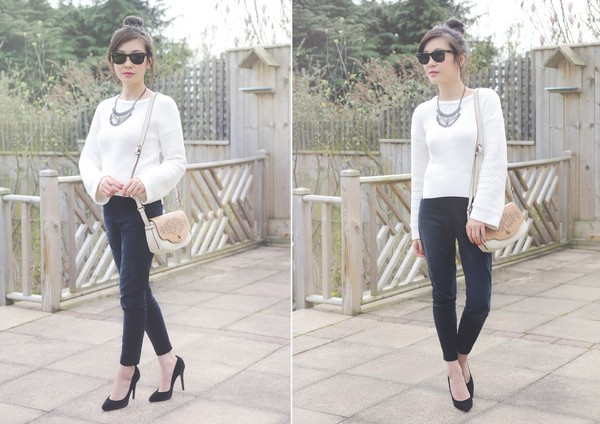 temporary secretary sweater jewels bag sunglasses shoes