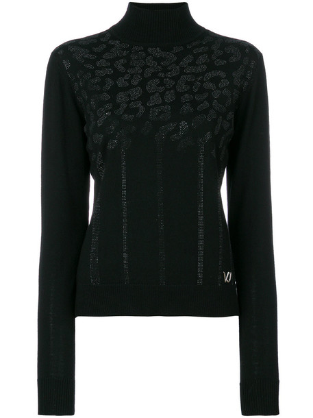 Versace Jeans jumper women black wool sweater
