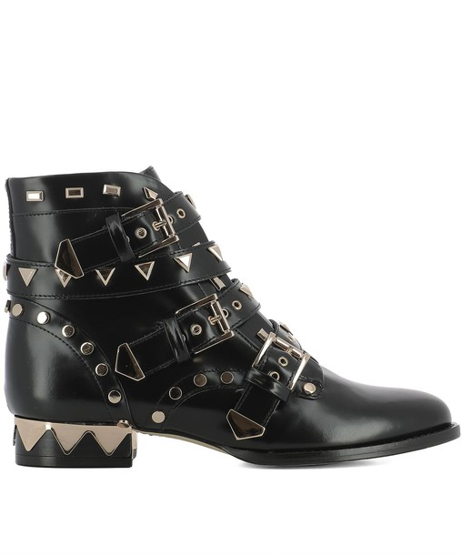 Sophia Webster leather ankle boots ankle boots leather black black leather shoes