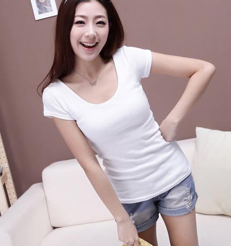 Women fashion Short sleeve t shirt female 100% slim cotton white t shirt basic shirt small fresh summer o neck solid color tight-inT-Shirts from Apparel & Accessories on Aliexpress.com | Alibaba Group