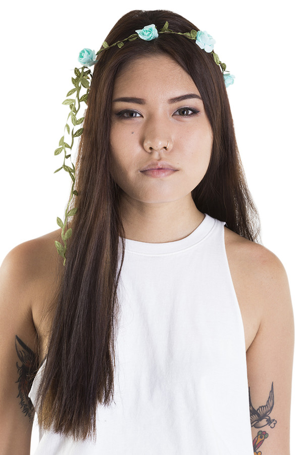 hair accessory xirl flower crown