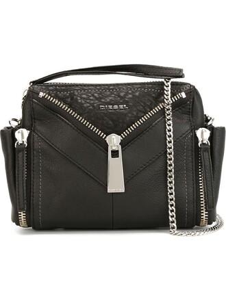 women leather black bag