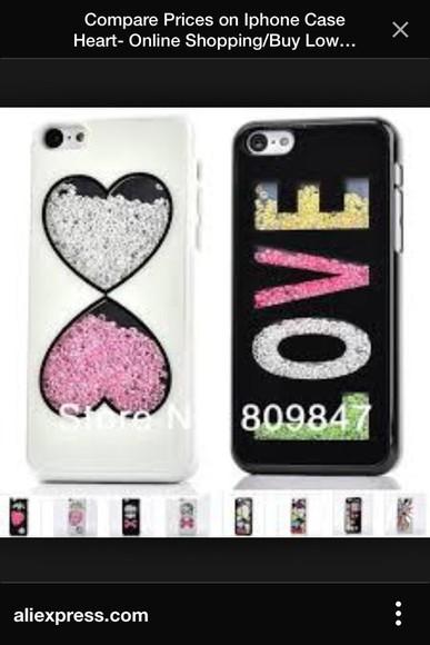 hearts love phone case swarovski phone case iphone 4 case