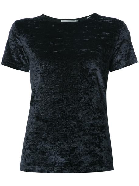 t-shirt shirt t-shirt women crushed velvet spandex black velvet top