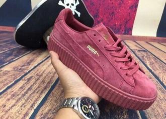 puma red shoes wine fenti sneakers women fashion
