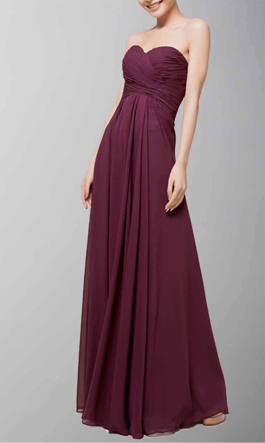 dark purple chiffon bridesmaid dresses
