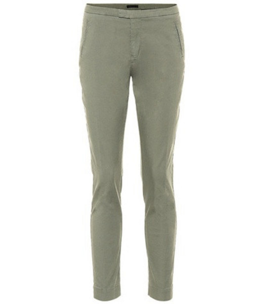 ATM Anthony Thomas Melillo Stretch-cotton skinny pants in green