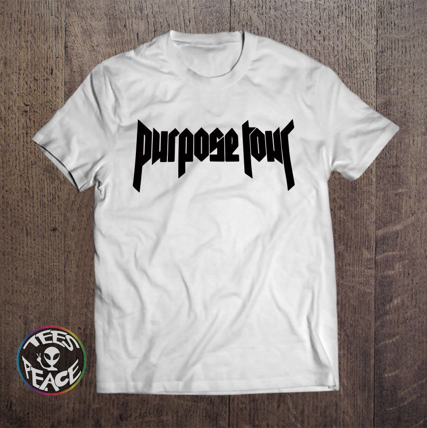 UNISEX Justin Bieber Purpose Tour Supersoft T-SHIRT Tee Bigger Than Satan Purpose World Tour