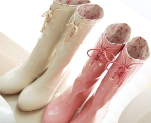 cherryspoon Han Guoguan network Gaotong cute boots jelly shoes ...