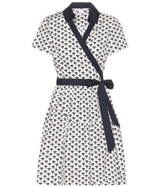 dress wrap dress cotton white