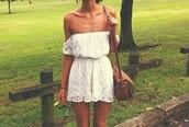 shorts,jumpsuit,lace,white,lace jumsuit,bag,dress,white dress cute lace collar,off the shoulder dress,lace dress,white dress,off the shoulder,cute,dress #white #lace,romper,beautiful,flowers,rend,white lace romper,floral,vintage,dress. white lace,floral dress