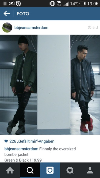 jacket bomber jacket black jacket urban menswear menswear