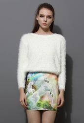 sweater,fluffy,white