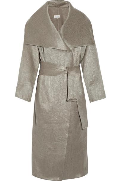 coat oversized metallic wool