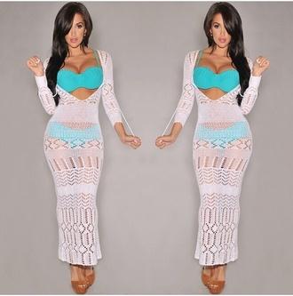 white swimwear maxi dress crochet white crochet dress white crochet white dress white maxi dress maxi cover up