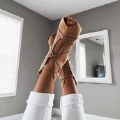 shoes,brown heels,tumblr,girl,pumps,brown,beige,heels,tumblr outfit,girly,peep toe pumps,camel,lace up heels,peep toe,suede,leather,booties,tan heels,tan,cute,nude,strappy heels