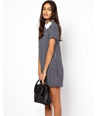 dress it girl shop checkered peter pan collar hispter hipster grunge