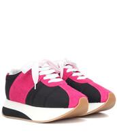 suede sneakers,sneakers,suede,black,shoes