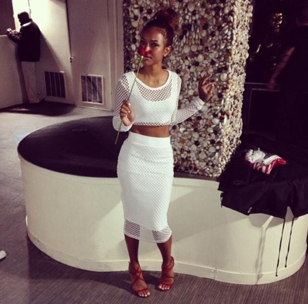 dress crop tops white